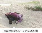 narcotic women lyind down... | Shutterstock . vector #714765628