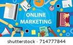 vector illustration. business... | Shutterstock .eps vector #714777844