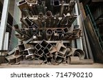 cable protection pipes  ready... | Shutterstock . vector #714790210