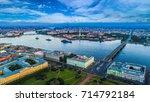 panorama of petersburg. neva... | Shutterstock . vector #714792184
