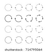 sets of black circle arrows.... | Shutterstock .eps vector #714795064