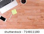 business working at an office ... | Shutterstock . vector #714811180