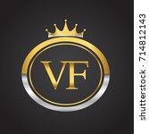 initial letter vf logotype...   Shutterstock .eps vector #714812143