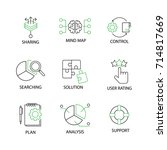 modern flat thin line icon set... | Shutterstock .eps vector #714817669