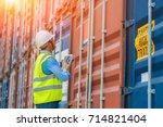 foreman control loading... | Shutterstock . vector #714821404