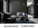interior living studio mock up  ... | Shutterstock . vector #714821464