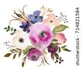 pink bordo violet peach...   Shutterstock . vector #714821584