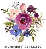 pink bordo violet blue... | Shutterstock . vector #714821590