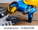 Drill And Set Of Drill Tools...