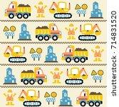 vector cartoon seamless pattern ... | Shutterstock .eps vector #714831520