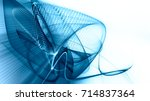 abstract blue and white... | Shutterstock . vector #714837364