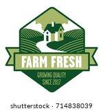 farm fresh logo farmhouse logo... | Shutterstock .eps vector #714838039