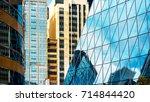 modern office building detail ... | Shutterstock . vector #714844420