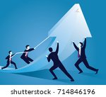 vector illustration. business... | Shutterstock .eps vector #714846196