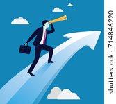 vector illustration. business... | Shutterstock .eps vector #714846220