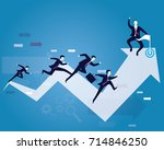 vector illustration. business... | Shutterstock .eps vector #714846250