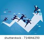 vector illustration. business... | Shutterstock .eps vector #714846250