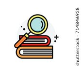 education knowledge concept... | Shutterstock .eps vector #714846928