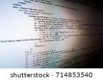 software development concept.... | Shutterstock . vector #714853540