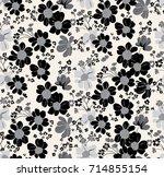vector seamless pattern.... | Shutterstock .eps vector #714855154