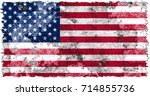 united states of america flag... | Shutterstock . vector #714855736