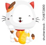 lucky cat | Shutterstock .eps vector #714872800