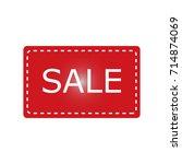 sale icon | Shutterstock .eps vector #714874069