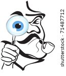 the symbol of sherlock holmes | Shutterstock .eps vector #71487712