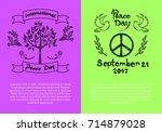 international peace day... | Shutterstock .eps vector #714879028