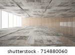 abstract  concrete and wood... | Shutterstock . vector #714880060
