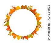 autumn  fall  thanksgiving... | Shutterstock .eps vector #714884518