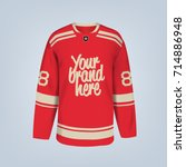 vector illustration of hockey...   Shutterstock .eps vector #714886948