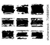 set of black brush stroke.... | Shutterstock .eps vector #714888934