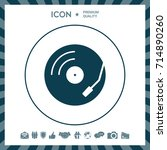 vinyl record turntable icon   Shutterstock .eps vector #714890260