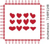 hearts icon  love sign vector... | Shutterstock .eps vector #714891148