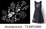 realistic woman dress... | Shutterstock .eps vector #714891880