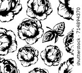 vector sketch rose pattern... | Shutterstock .eps vector #714894370