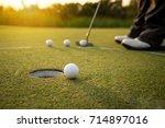 Foot Golfer Training Putting...