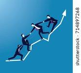 vector illustration. business...   Shutterstock .eps vector #714897268