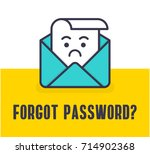 forgot password. vector... | Shutterstock .eps vector #714902368
