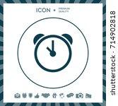 alarm clock icon | Shutterstock .eps vector #714902818