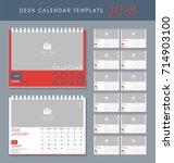 desk calendar 2018 vector... | Shutterstock .eps vector #714903100