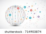 abstract technology sphere... | Shutterstock .eps vector #714903874
