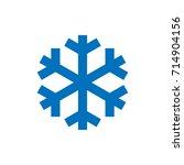snowflake sign. blue snowflake...   Shutterstock .eps vector #714904156