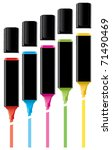 vector colorful highlighters... | Shutterstock .eps vector #71490469