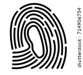 vector fingerprint icon   Shutterstock .eps vector #714906754