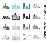 processing plant  industrial...   Shutterstock .eps vector #714906838