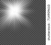 vector transparent sunlight...   Shutterstock .eps vector #714909610