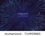 lines composed of glowing... | Shutterstock .eps vector #714909883