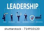 vector illustration. leadership ... | Shutterstock .eps vector #714910120